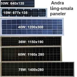 Andra smala solceller