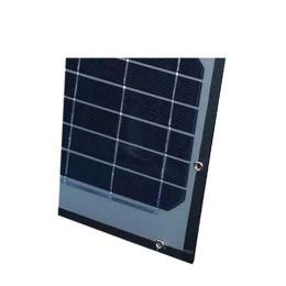 Solpanel med monteringshål