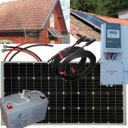 Solcellspaket 160W, 12V för...