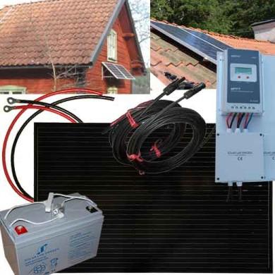 solcellspaket stuga 250W utbyggbar