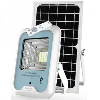 Led-lampa med solpanel och fjärrkontroll
