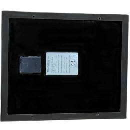 solpanel 10W monokristallin, svart, baksida