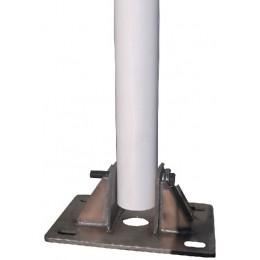 Vindkraftsmast, rostfri