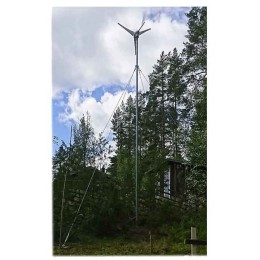 Galvaniserad mast för vindkraft