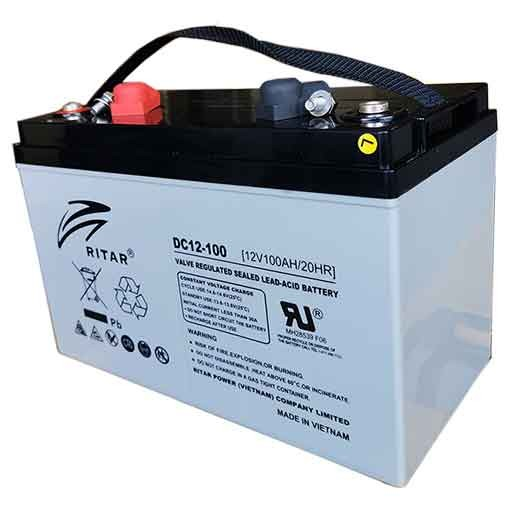 AGM Batteri, 100Ah.Ritar