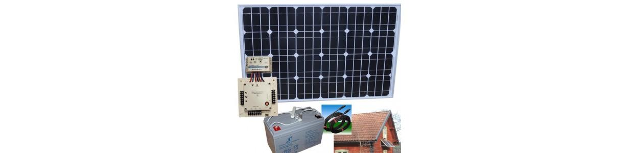 solcellspaket för sommarstugor, 12V